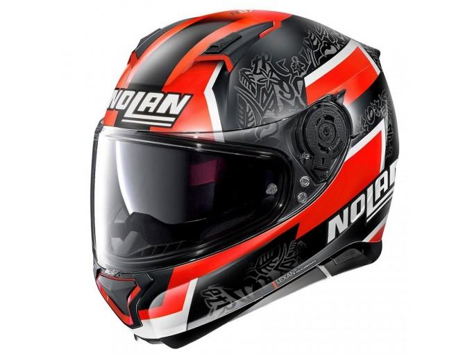 Helmet Full-Face Nolan N87 Gemini Replica N-COM 94 D. Petrucci Matt-Black