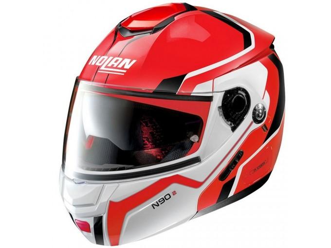 Helmet Flip-Up Full-Face Nolan N90.2 MERIDIANUS N-COM 33 CORSA Red