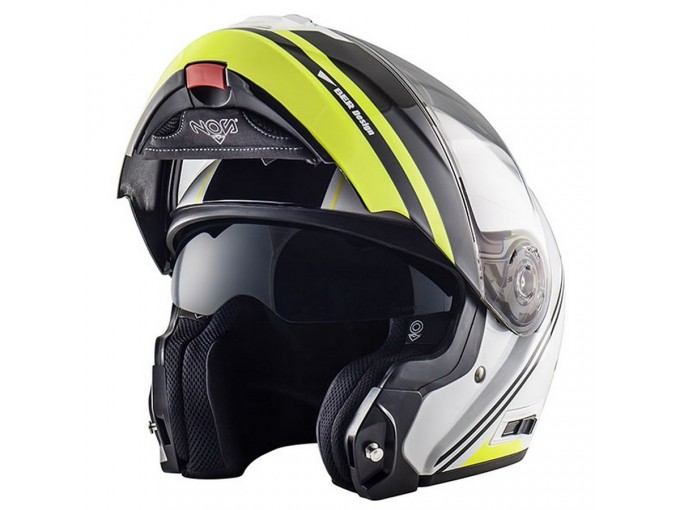Helmet Flip-Up Full-Face Nos NS-8 Dynamic Fluor Yellow