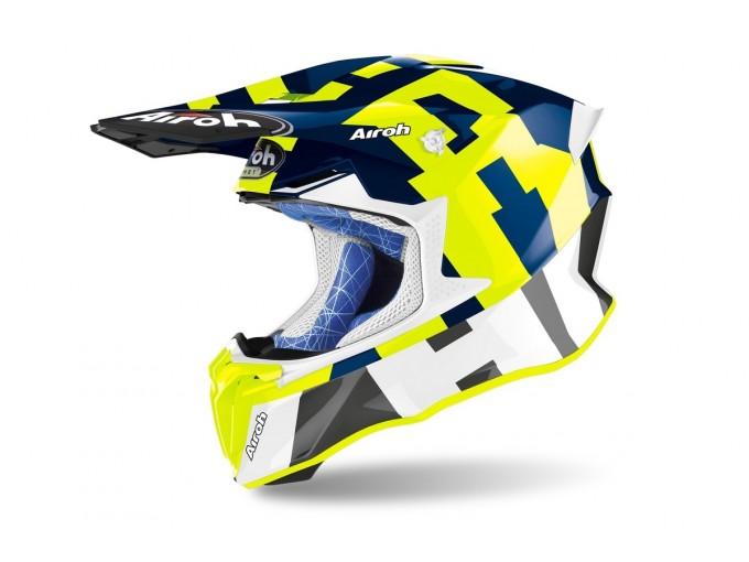 Helmet Full-Face Off-Road Airoh Twist 2.0 Frame Blue Gloss