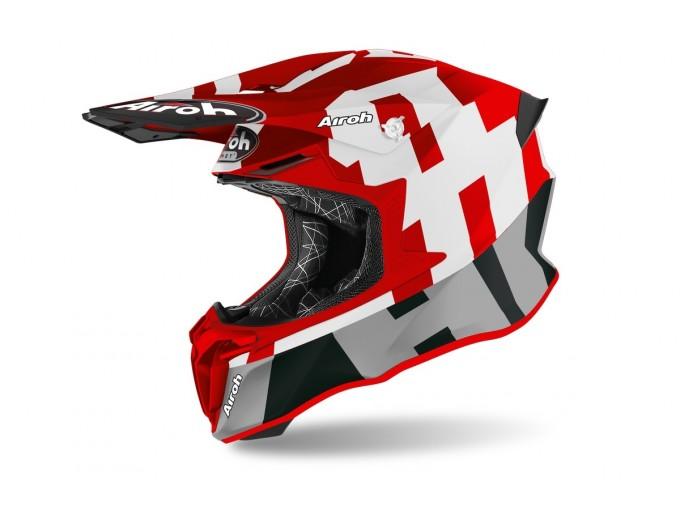 Helmet Full-Face Off-Road Airoh Twist 2.0 Frame Red Matt