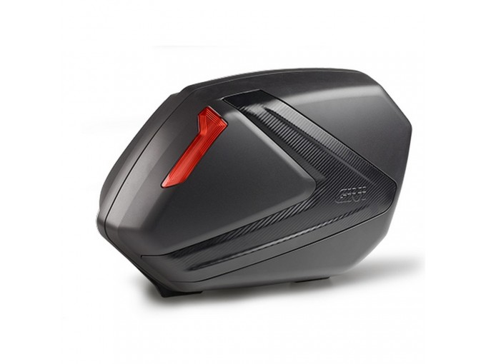 V37NN - Givi Pair Side-cases Monokey Black Red Reflectors Cover Carbon Look 37LT
