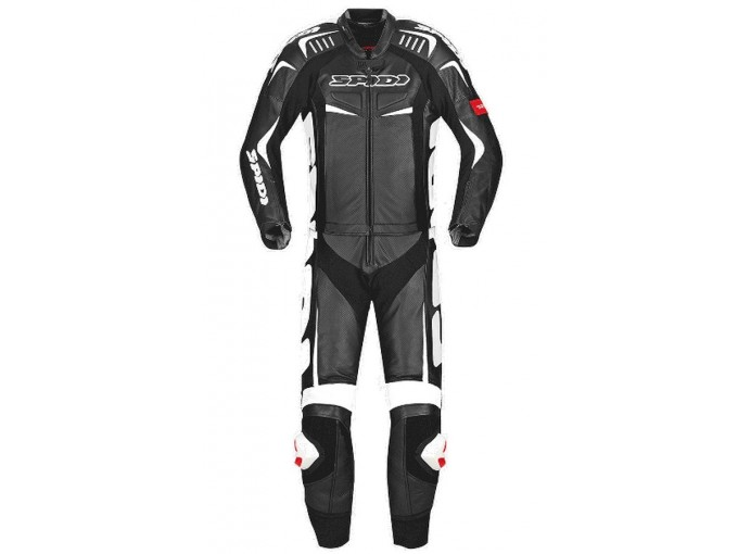 Motorbike Suit Spidi Man 2 Pieces TRACK TOURING Black White