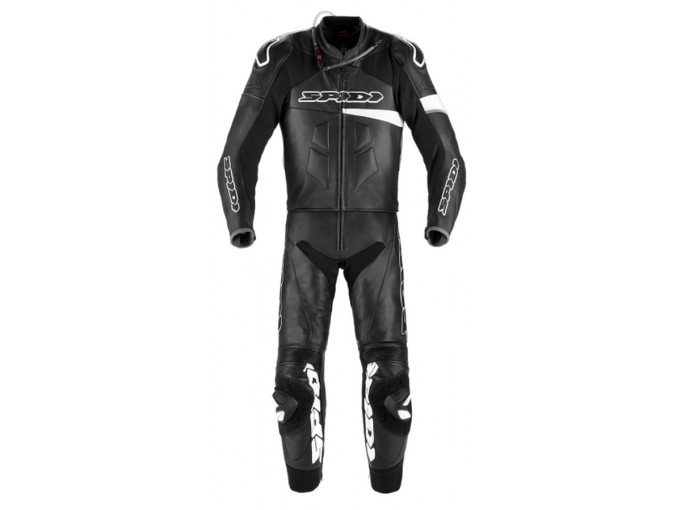 Motorbike Suit Spidi Man 2 Pieces RACE WARRIOR TOURING PERFORATED Black White
