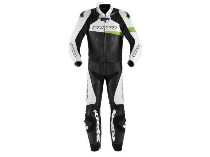 Motorbike Suit Spidi Man 2 Pieces RACE WARRIOR TOURING Black White Green