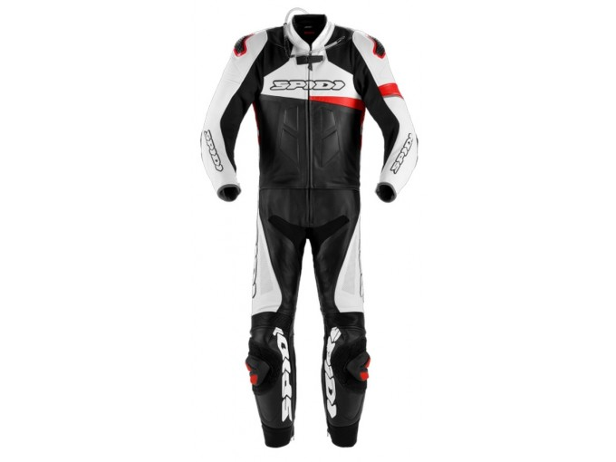 Motorbike Suit Spidi Man 2 Pieces RACE WARRIOR TOURING PERFORATED Black Red