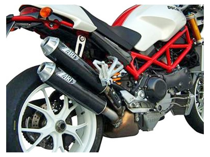 ZD028HSR-2 - Exhaust Mufflers Zard Titanium Ducati Monster Testastretta