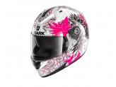 Full-Face Helmet Shark RIDILL Nelum White Black Violet