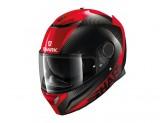 Full-Face Helmet Shark SPARTAN CARBON SKIN Black Red