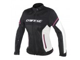 Perforated Jacket Dainese Air Frame D1 Lady Tex Black Grey Fuchsia