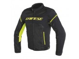Perforated Jacket Dainese Air Frame D1 Tex Black Fluo Yellow