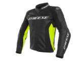 Leather Jacket Dainese Racing 3 Black / Black / Fluo-Yellow