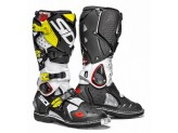 Boots Moto Off-Road Crossfire 2 Black White Yellow Fluo