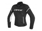 Perforated Jacket Dainese Air Frame D1 Lady Tex Black White