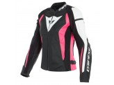 Leather Jacket Dainese Nexus Lady Black Fuchsia White
