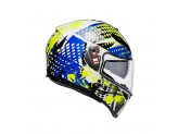 Helmet Full-Face Agv K-3 SV Pop White Blue Lime