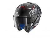 Modular Helmet Openable Discovery Shark EVO-ONE 2 KEENSER MAT Black White Red