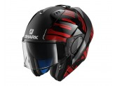 Modular Helmet Openable Discovery Shark EVO-ONE 2 LITHION DUAL Black Red