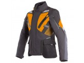 Motorcycle Jacket Man Dainese Gore-Tex Gran Turismo Black Orange Ebony