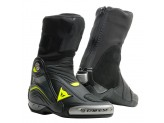 Leather Boots Racing Dainese Axial D1 Black Yellow Fluo