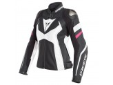 Leather Jacket Dainese Avro 4 Lady Black White Fuchsia