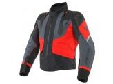 Motorcycle Jacket Man Dainese Gore-Tex SPORT MASTER Black Ebony Lava-Red