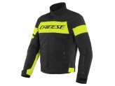 Motorcycle Jacket Man Dainese SAETTA D-DRY Black Fluo-Yellow