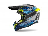 Helmet Full-Face Off-Road Airoh Aviator 3 Wave Silver Chrome