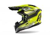 Helmet Full-Face Off-Road Airoh Aviator 3 Wave Yellow Matt