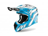 Helmet Full-Face Off-Road Airoh Aviator Ace Art Azure Gloss