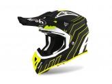 Helmet Full-Face Off-Road Airoh Aviator Ace Art Black Matt