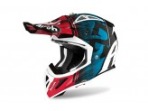 Helmet Full-Face Off-Road Airoh Aviator Ace Kybon Blue Red Gloss