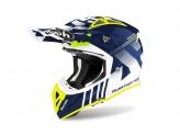 Helmet Full-Face Off-Road Airoh Aviator Ace Nemesi Blue Gloss