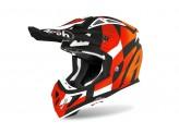 Helmet Full-Face Off-Road Airoh Aviator Ace Trick Orange Matt
