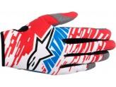 Gloves Alpinestars RACER BRAAP Red/White