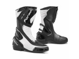Leather Boots Racing Forma Freccia Black White