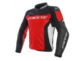 Leather Jacket Dainese Racing 3 Red/Black/White