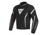 Perforated Jacket Dainese Air Crono 2 Tex Black Black White