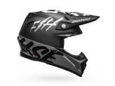 Helmet Bell Off-road Motocross Moto-9 Carbon Flex Fasthouse Black White Gray