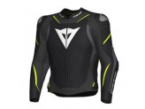 Leather Jacket Dainese Super Speed 3 Black Grey Yellow Fluo
