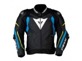 Leather Jacket Dainese Super Speed 3 Black Blue Yellow Fluo