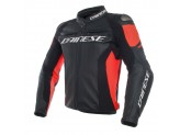 Leather Jacket Dainese Racing 3 Perforated Black/Black/Fluo-Red