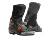 Leather Boots Racing Dainese Axial D1 Black Fluo-Red