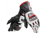 Motorcycle Gloves Man Dainese FULL METAL 6 Black/White/Red-Lava