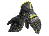 Motorcycle Gloves Man Dainese FULL METAL 6 Black/Yellow-Fluo