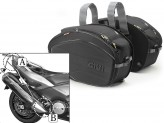 Saddle Bags Givi EA100B + Specific holder for Yamaha T-MAX 500/530
