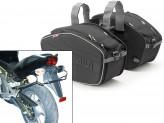 Saddle Bags Givi EA101B + Specific holder for kawasaki ER 6n/6f 650 (05>08)