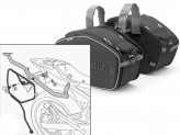 Saddle Bags Givi EA101B + Specific holder for Yamaha XJ6 (09 > 12)