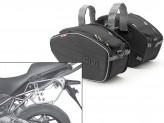 Saddle Bags Givi EA101B + Specific holder for Kawasaki Versys 650 (10 > 14)