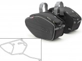 Saddle Bags Givi EA101B + Specific holder for Triumph Street Triple 675